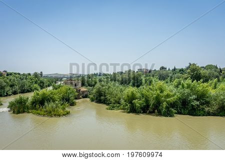 The Guadalquivir River In Cordoba, Spain, Andalucia, Europe