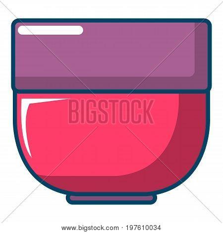 Bowl icon. Cartoon illustration of bowl vector icon for web design