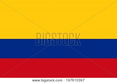 Flag design. Colombian flag on the white background isolated flat layout for your designs. Vector illustration.