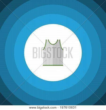 Singlet Vector Element Can Be Used For Singlet, Tank, Sleeveless Design Concept.  Isolated Sleeveless Tank Flat Icon.