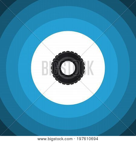 Wheel Vector Element Can Be Used For Tire, Wheel, Car Design Concept.  Isolated Tire Flat Icon.