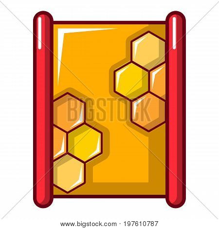 Honeycombs icon. Cartoon illustration of honeycombs vector icon for web design