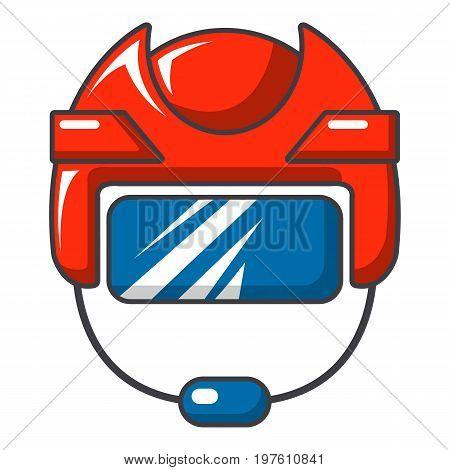 Hockey helmet icon. Cartoon illustration of hockey helmet vector icon for web design