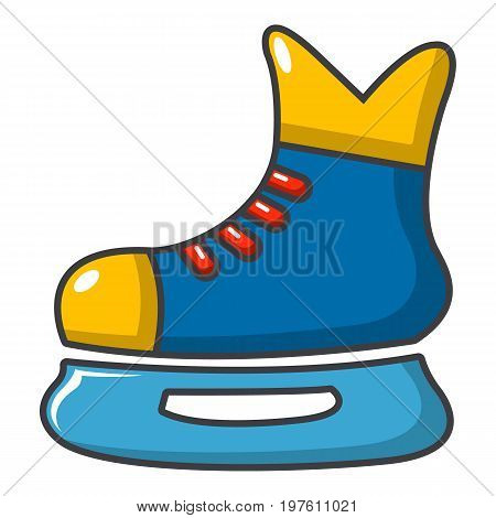 Ice hockey skates icon. Cartoon illustration of ice hockey skates vector icon for web design