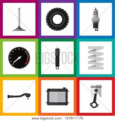 Flat Icon Auto Set Of Car Segment, Input Technology, Heater And Other Vector Objects