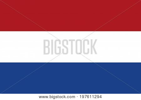 Flag design. Dutch flag on the white background isolated flat layout for your designs. Vector illustration.
