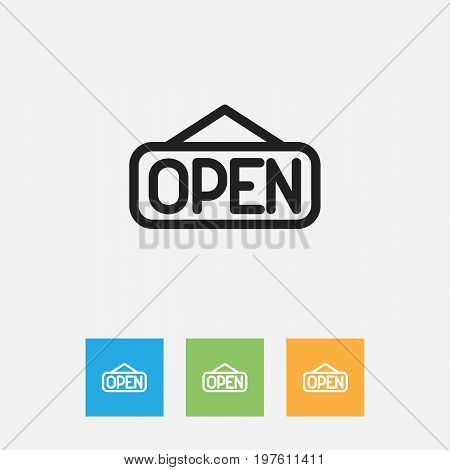 Vector Illustration Of Shopping Symbol On Explicit Outline