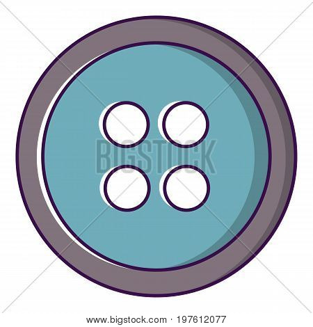 Sewing button icon. Cartoon illustration of sewing button vector icon for web design