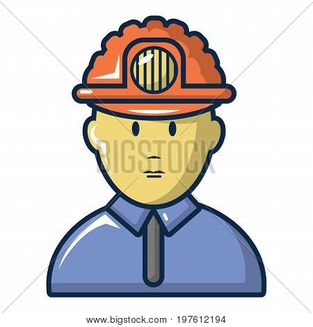 Male miner icon. Cartoon illustration of male miner vector icon for web design