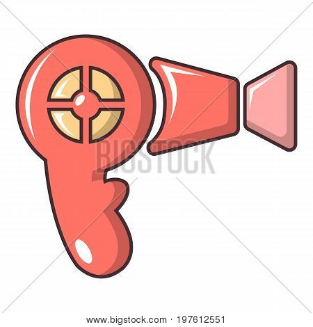 Hairdryer icon. Cartoon illustration of hairdryer vector icon for web design