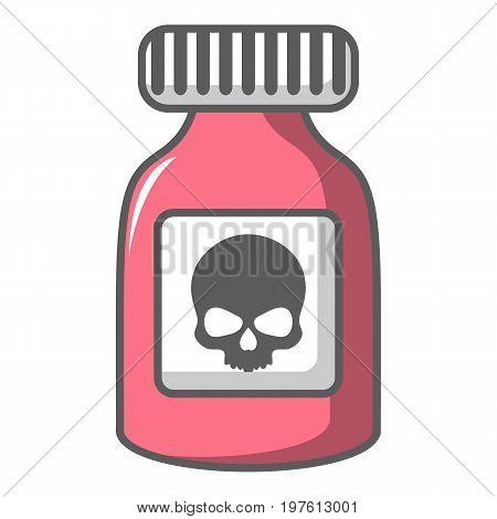 Poison bottle icon. Cartoon illustration of poison bottle vector icon for web design