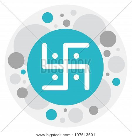 Vector Illustration Of Religion Symbol On Swastika Icon