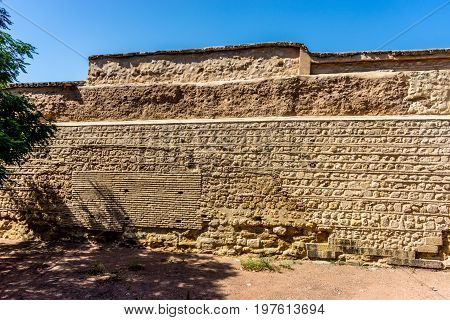 Ancient Ruin Wall In The City Of Cordoba, Spain, Europe