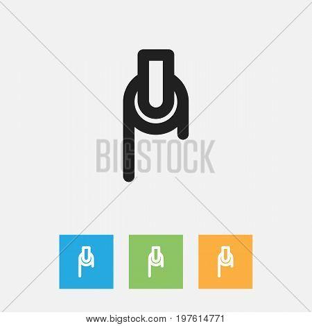 Vector Illustration Of Instrument Symbol On Pulley Outline