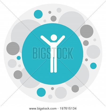 Vector Illustration Of Kin Symbol On Happy Man Icon