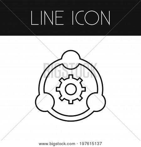 Cogwheel Vector Element Can Be Used For Gear, Cogwheel, Development Design Concept.  Isolated Development Outline.