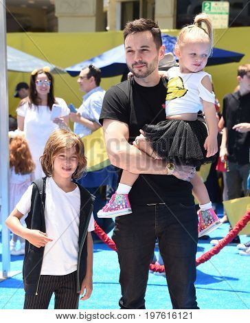 LOS ANGELES - JUL 23:  Matthew Rutler, Max Liron Bratman, Summer Rain Rutler arrives for the