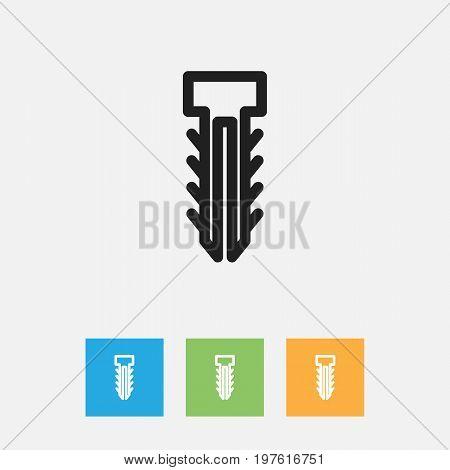 Vector Illustration Of Instrument Symbol On Dowel Outline