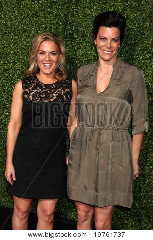 LOS ANGELES - JAN 6:  Cat Cora & wife Jennifer Cora arrive at the Oprah Winfrey Network Winter 2011 TCA Party at The Langham Huntington Hotel on January 6, 2011 in Pasadena, CA.