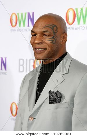 LOS ANGELES - JAN 6:  Mike Tyson arrives at the Oprah Winfrey Network Winter 2011 TCA Party at The Langham Huntington Hotel on January 6, 2011 in Pasadena, CA.