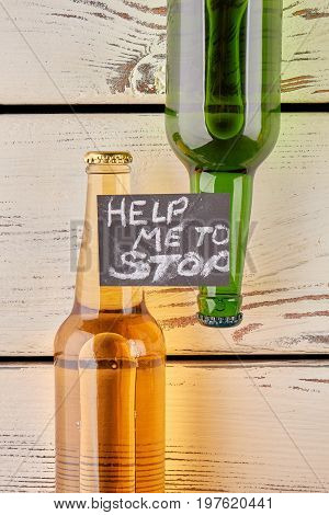 How to overcome alcohol dependence. Break the alcohol addiction. Request of help to stop drink.