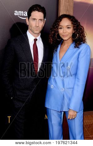 LOS ANGELES - July 27:  Iddo Goldberg, Ashley Madekwe at