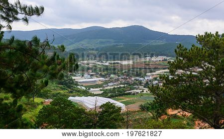 Mountain Scenery On Dalat Highlands In Vietnam