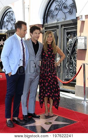 LOS ANGELES - July 26:  Will Arnett, Jason Bateman, Jennifer Aniston at the Jason Bateman Hollywood Walk of Fame Star Ceremony at the Walk of Fame on July 26, 2017 in Hollywood, CA
