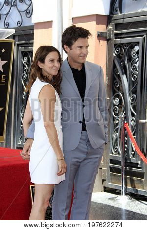 LOS ANGELES - July 26:  Amanda Anka, Jason Bateman at the Jason Bateman Hollywood Walk of Fame Star Ceremony at the Walk of Fame on July 26, 2017 in Hollywood, CA