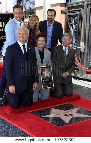 LOS ANGELES - July 26:  Will Arnett, Jennifer Aniston, Ben Allen, Jason Bateman, Leron Gubler at the Jason Bateman Hollywood Star Ceremony at the Walk of Fame on July 26, 2017 in Hollywood, CA