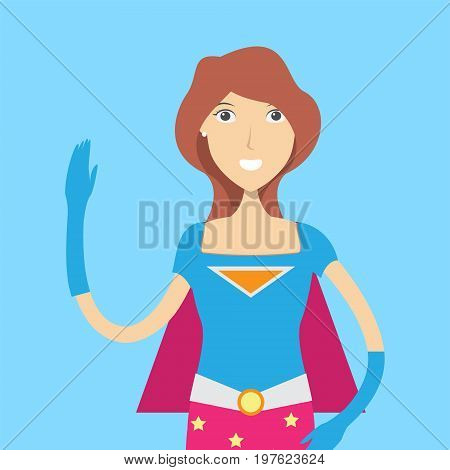 Super Hero Character Female | set of vector character illustration use for human, profession, business, marketing and much more.The set can be used for several purposes like: websites, print templates, presentation templates, and promotional materials.
