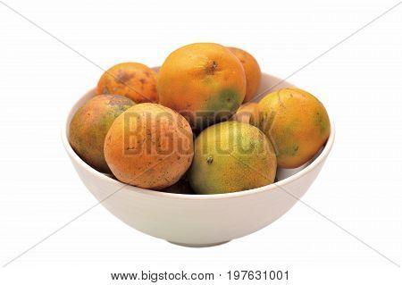 Image Orange fruit isolated on white background.