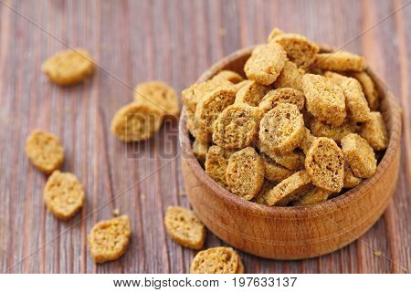 Croutons In Bowl