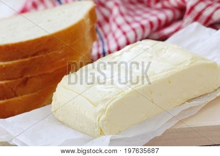 Fresh Butter On The Wooden Table