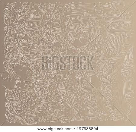 Beige vector pattern. Nude background with abstract ornaments waves. Wave illustration