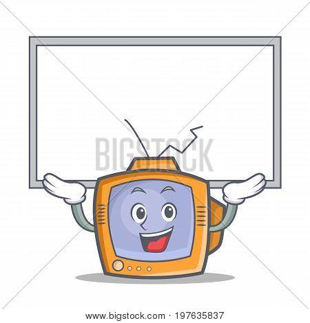 Up board TV character cartoon object vector illustration
