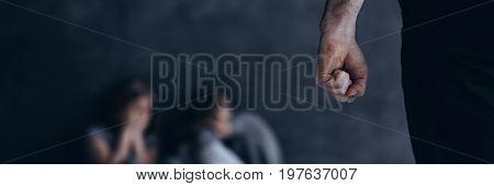 Man Clenching His Fist