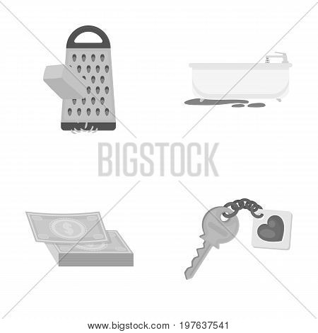access, hygiene, food and other  icon in monochrome style. key, key chain, security, icons in set collection.