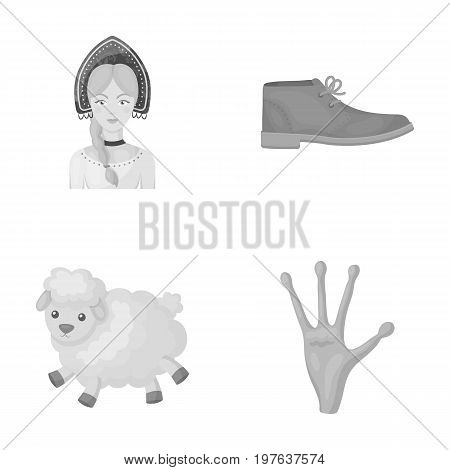business, travel, cinema and other  icon in monochrome style.alien, fantasy, fiction, icons in set collection