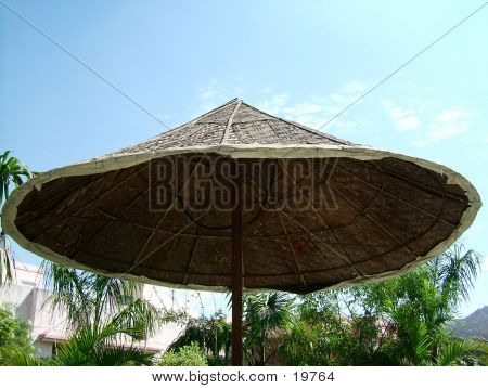 A Canopy In A Resort Against Blue Sky