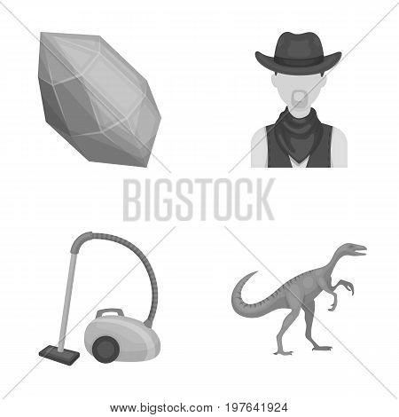 mine, cleaning and other  icon in cartoon style.rodeo, history icons in set collection.