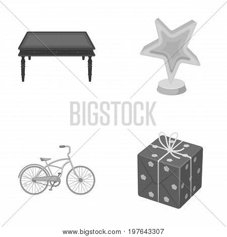 cardboard, sport and other  icon in cartoon style.furniture, gift icons in set collection.