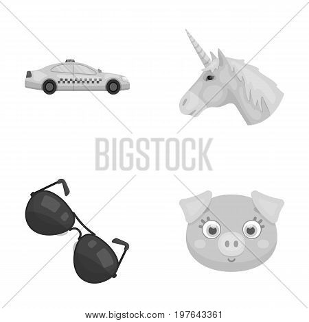 transport, police and other  icon in cartoon style.myth, animal icons in set collection.