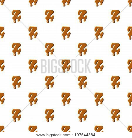 Letter Z from caramel pattern seamless repeat in cartoon style vector illustration