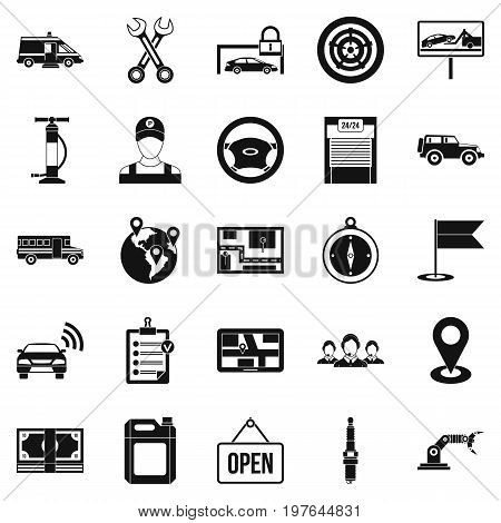 Employment icons set. Simple set of 25 employment vector icons for web isolated on white background