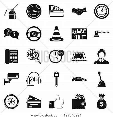 Serv. icons set. Simple set of 25 serv. vector icons for web isolated on white background