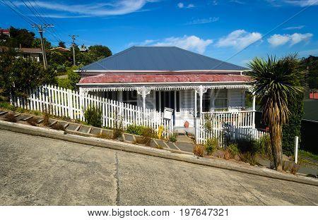 Baldwin street - the steepest street in the world Dunedin New Zealand