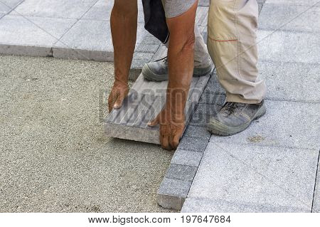Installing Tactile Paving