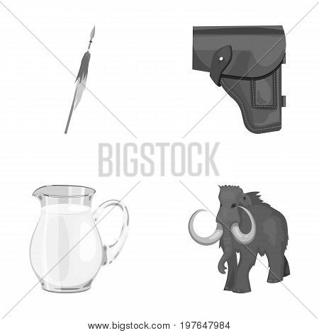 food, accessories, tool and other  icon in cartoon style.century, prehistoric, animal, icons in set collection.