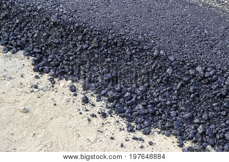 New Hot Fresh Layer Of Asphalt